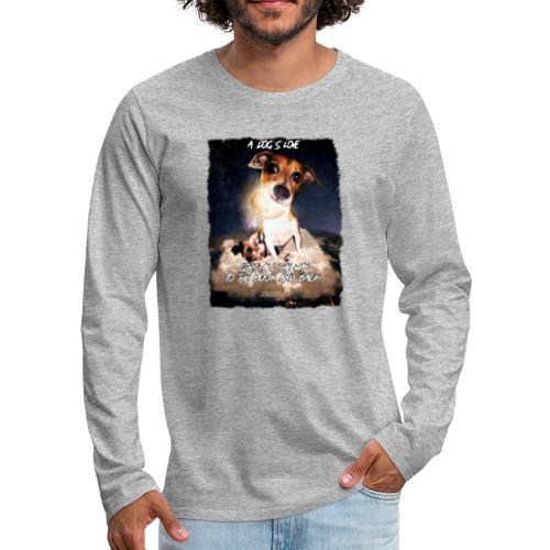 A dog's love - Mannen Premium shirt met lange mouwen