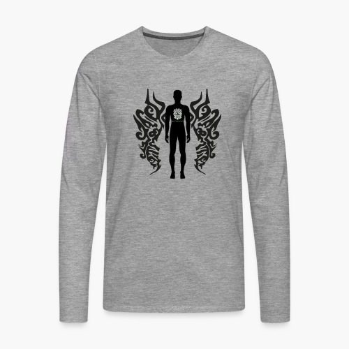 Houseology Original - Angel of Music (INVERSE) - Men's Premium Longsleeve Shirt