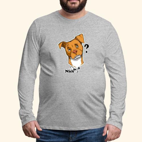 Nice Dogs pitbull 2 - Maglietta Premium a manica lunga da uomo