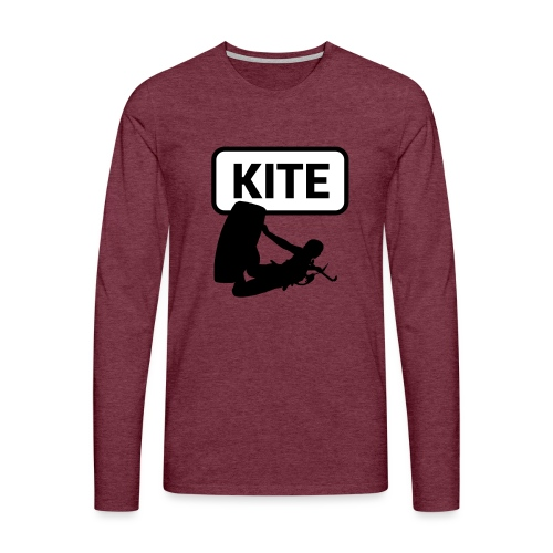 Kite Surf - Maglietta Premium a manica lunga da uomo