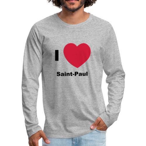 i love sainte paul - T-shirt manches longues Premium Homme