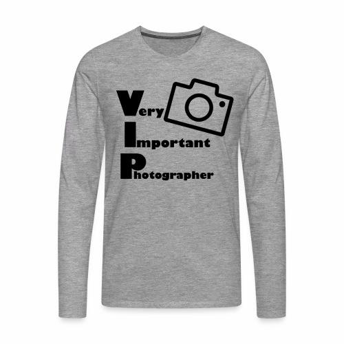 very important photographer - Männer Premium Langarmshirt