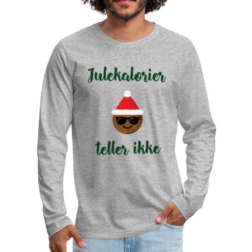 Morsomt julemotiv - Premium langermet T-skjorte for menn