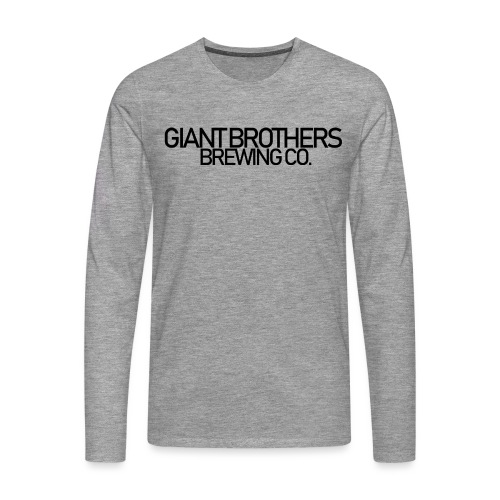 Giant Brothers Brewing co SVART - Långärmad premium-T-shirt herr