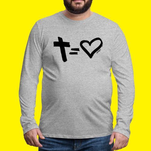Cross = Heart BLACK - Men's Premium Longsleeve Shirt