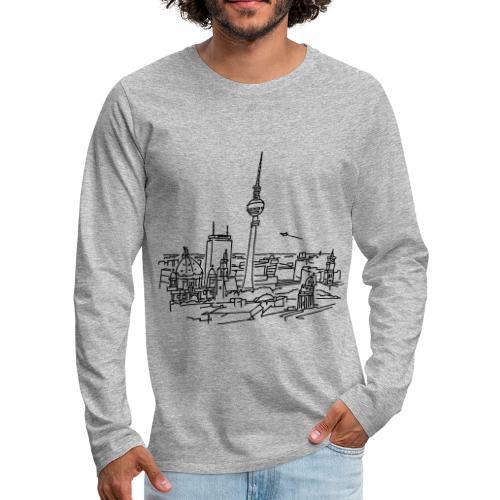 Berlin Panorama - Koszulka męska Premium z długim rękawem
