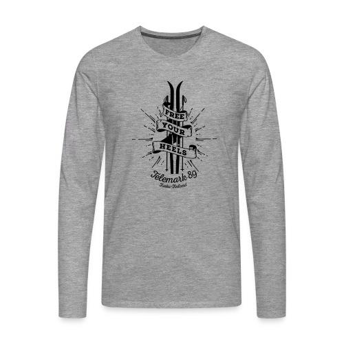 FreeYourHeels_merge - Miesten premium pitkähihainen t-paita