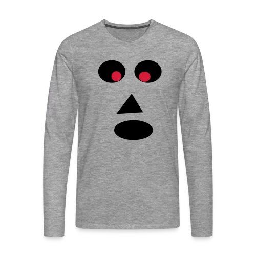 Ansigt - Herre premium T-shirt med lange ærmer