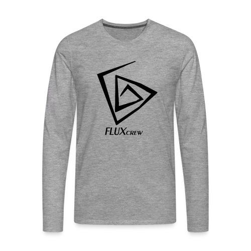 FLUXcrew schwarz - Männer Premium Langarmshirt