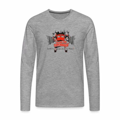 Greetings from CPH ver01 - Herre premium T-shirt med lange ærmer