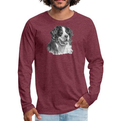 Bernese mountain dog - Herre premium T-shirt med lange ærmer