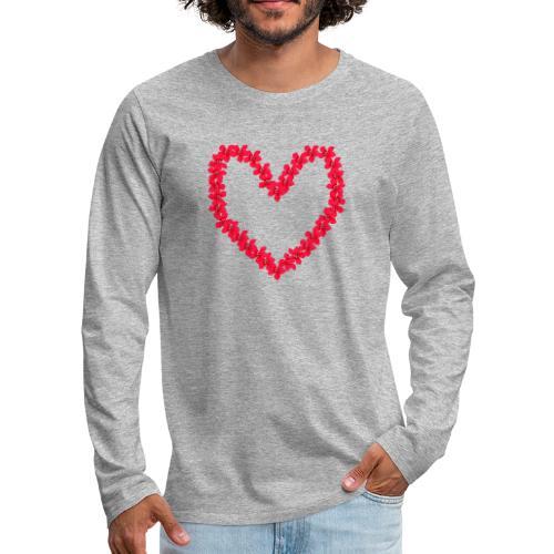 Ketoneilikkasydän - Miesten premium pitkähihainen t-paita