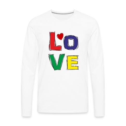 LOVE - Männer Premium Langarmshirt