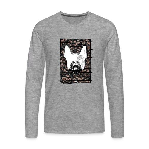 Französische Bulldogge Camouflage Silhouette - Männer Premium Langarmshirt