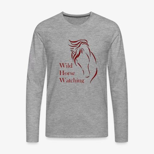 Logo Aveto Wild Horses - Maglietta Premium a manica lunga da uomo