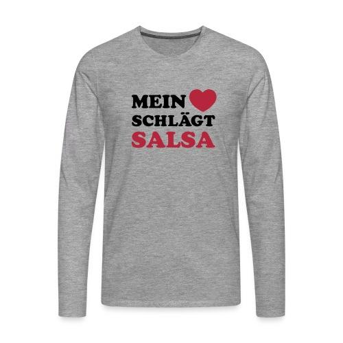 MEIN HERZ SCHLÄGT SALSA - Männer Premium Langarmshirt