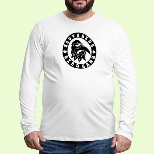 BLACK EAGLE LOGO - Miesten premium pitkähihainen t-paita