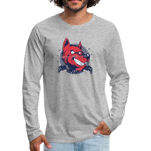 Wolf grin - Männer Premium Langarmshirt