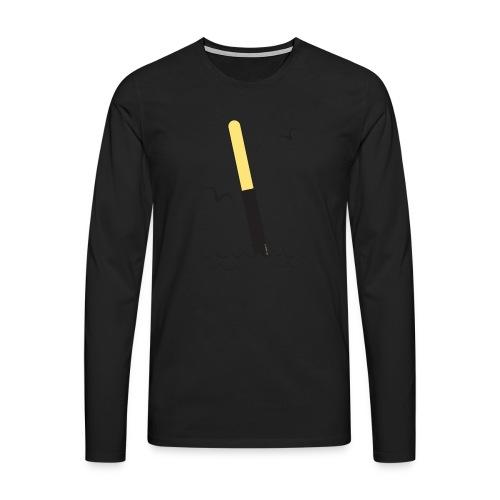 FP25 ETELÄVIITTA Merimerkit funprint24 net - Miesten premium pitkähihainen t-paita
