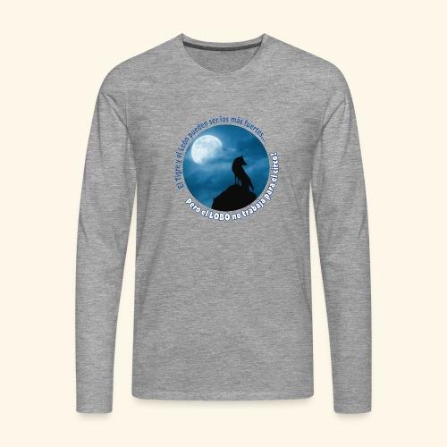 LOBO - Camiseta de manga larga premium hombre