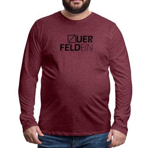 Querfeldein Logo - Männer Premium Langarmshirt