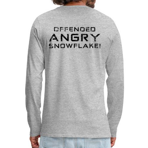 Black Negant logo + OFFENDED ANGRY SNOWFLAKE! - Herre premium T-shirt med lange ærmer