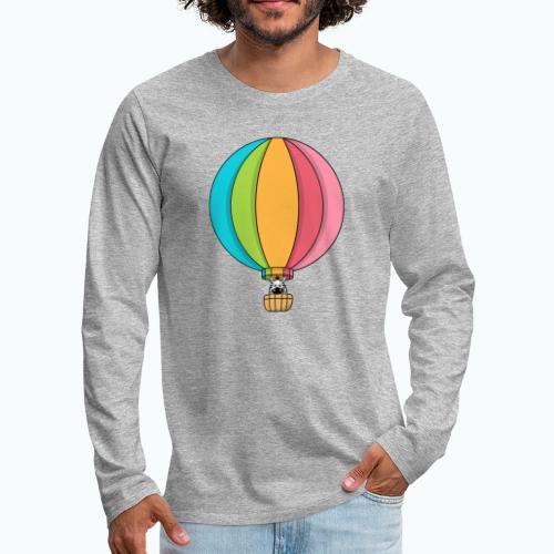 Zebra Zach Air Balloon - Långärmad premium-T-shirt herr