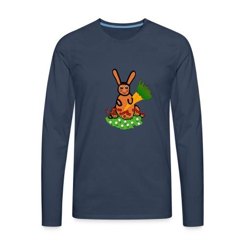 Rabbit with carrot - Men's Premium Longsleeve Shirt