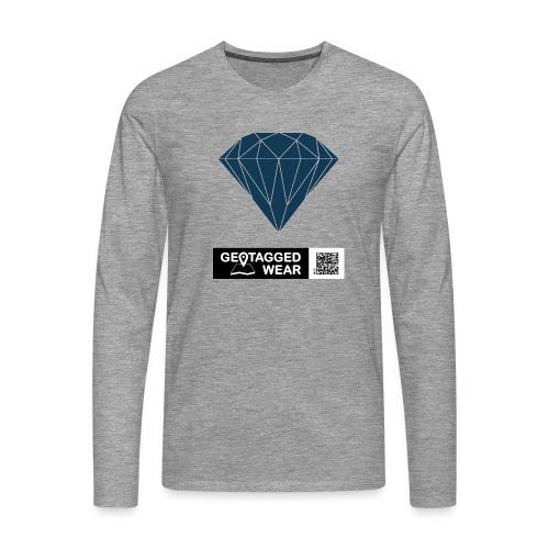 Men Diamond Pantone Sailor Blue - Männer Premium Langarmshirt