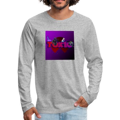 toxic paita - Miesten premium pitkähihainen t-paita