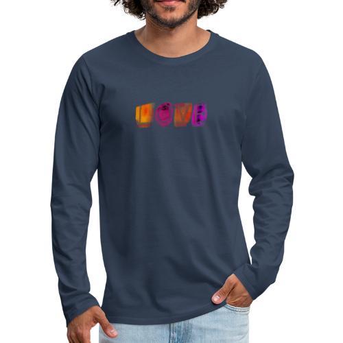 Love - T-shirt manches longues Premium Homme