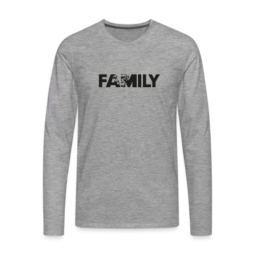 Family Logo Sticker SW - Männer Premium Langarmshirt