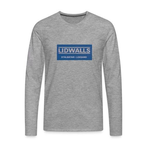 Lidwalls Stålbåtar - Långärmad premium-T-shirt herr