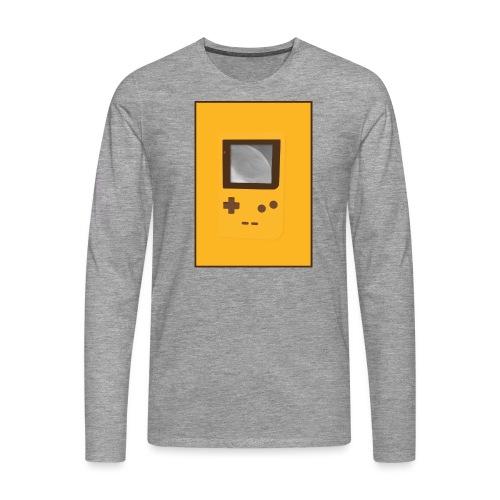 Game Boy Nostalgi - Laurids B Design - Herre premium T-shirt med lange ærmer
