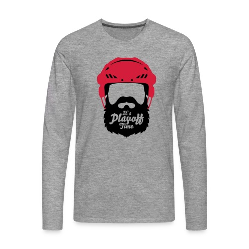 Eishockey Playoff Bart - Hockey Beard Helmet 1 - Männer Premium Langarmshirt