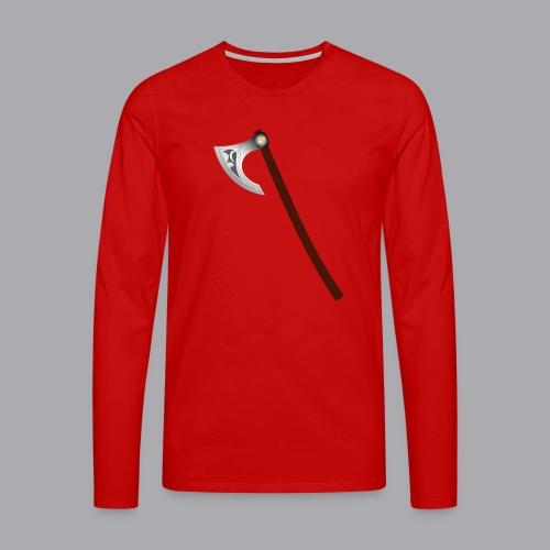Wikinger Beil - Männer Premium Langarmshirt