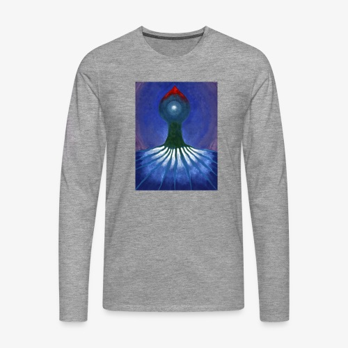 Drzewo Samotne - Koszulka męska Premium z długim rękawem