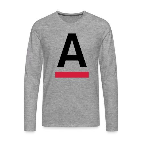 Alliansfritt Sverige A logo 2013 Färg - Långärmad premium-T-shirt herr