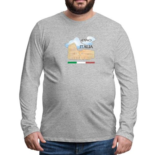 hello italy T-Shirts - Men's Premium Longsleeve Shirt