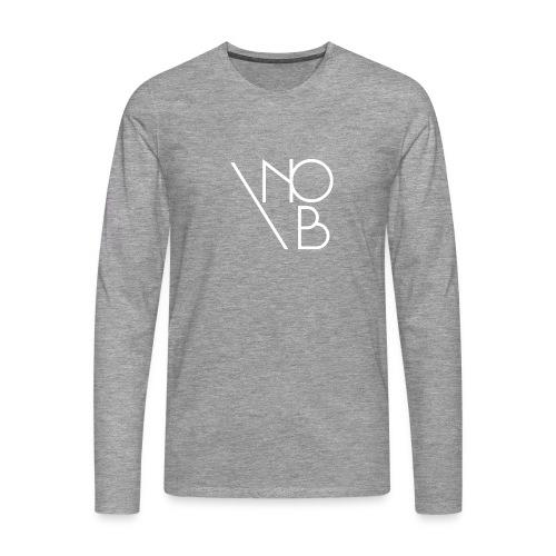 nob 1 white png - Koszulka męska Premium z długim rękawem