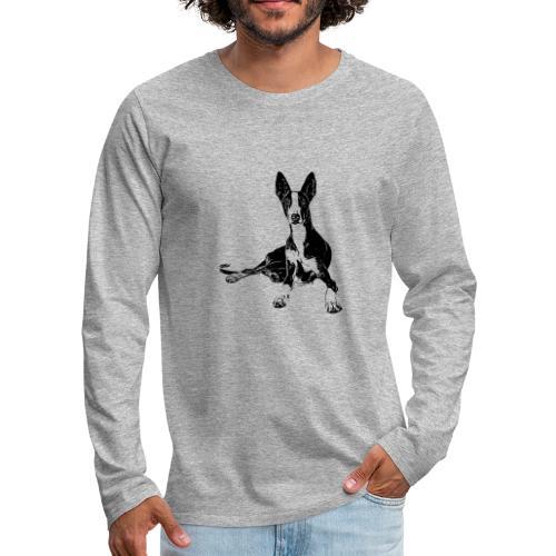 Podenco Hunde Design Geschenkidee - Männer Premium Langarmshirt