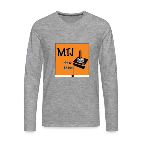 Mtj Logo - Premium langermet T-skjorte for menn