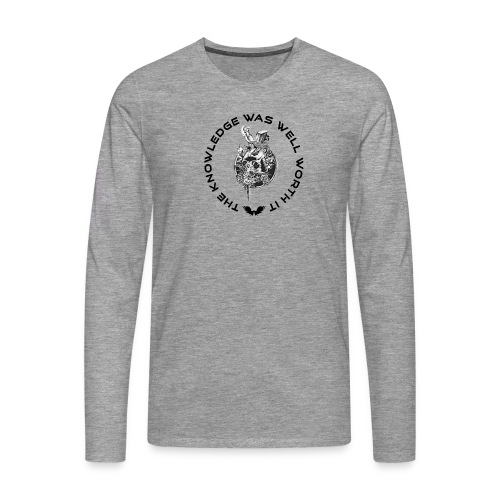 Knowledge WhiteSkull - Miesten premium pitkähihainen t-paita