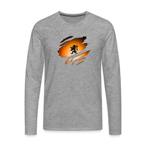 Dutch Inside: Leeuw - Mannen Premium shirt met lange mouwen