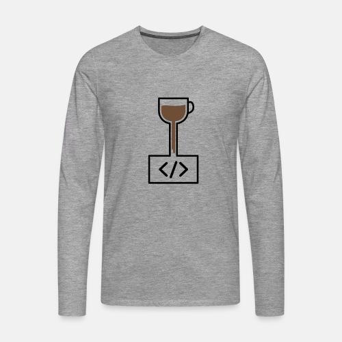Coffee to Code - Programming T-Shirt - Men's Premium Longsleeve Shirt