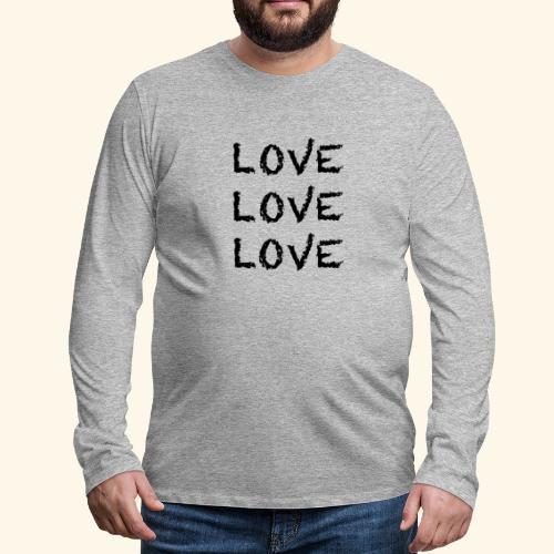 LOVE Black 001 - Männer Premium Langarmshirt