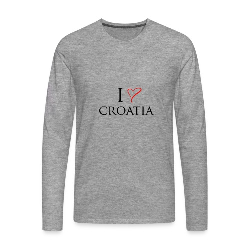 i love croatia - Koszulka męska Premium z długim rękawem