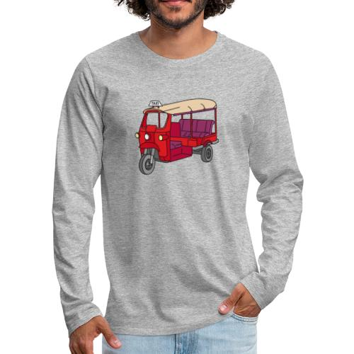 Rote Autorikscha, Tuk-tuk - Männer Premium Langarmshirt
