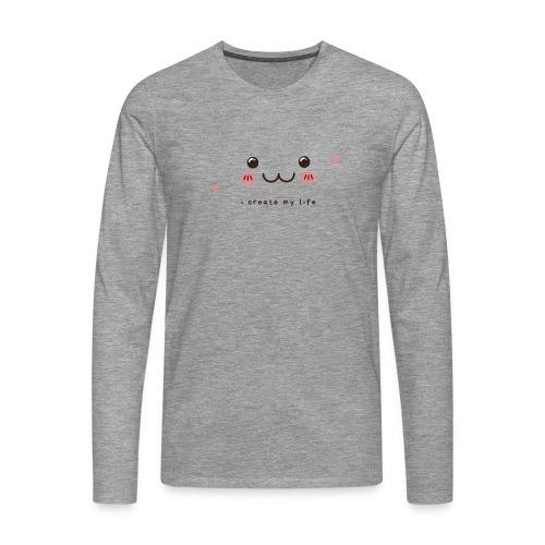 Jag skapar mitt liv motiv - Långärmad premium-T-shirt herr