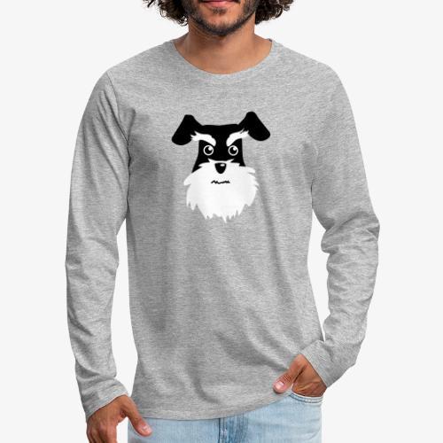 Schnauzer - Långärmad premium-T-shirt herr